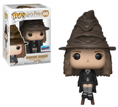Funko Pop Hermione Granger With Sorting Hat - 2018 New York Comic Con / Barnes & Noble-Harry Potter-1