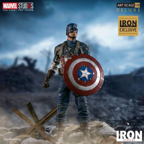 Action Figures Captain America - First Avenger Art Scale 1/10 - Mcu 10 Years Eve-Marvel Studios-
