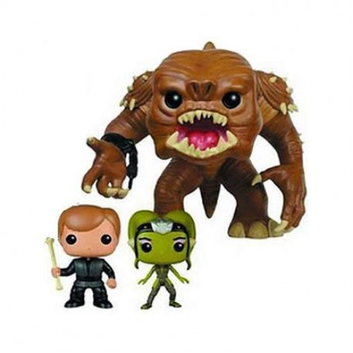 Funko Pop 3 Pack Rancor Luke Skywalker Slave Oola Star Wars Exclusive Raro-Star Wars-3