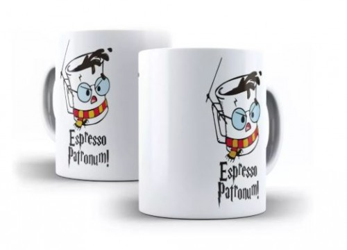 Caneca Harry Potter Espresso Patronum-Harry Potter-
