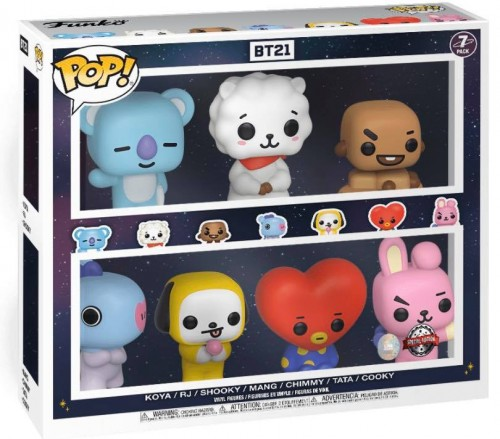 Funko Pop 7 Pack Bt21 Barnes And Noble-BT21-100