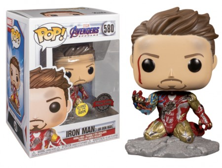 Funko Pop! Marvel: Avengers Endgame: I Am Iron Man Gitd Special Edition-Marvel Avengers-580