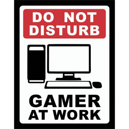 Action Figures Placa Decorativa Do Not Disturb-gamer at work-