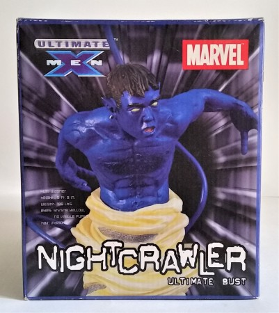Action Figures Statue Marvel Ultimate X-men Bust Nightcrawler Noturno-Marvel Ultimate X-Men-