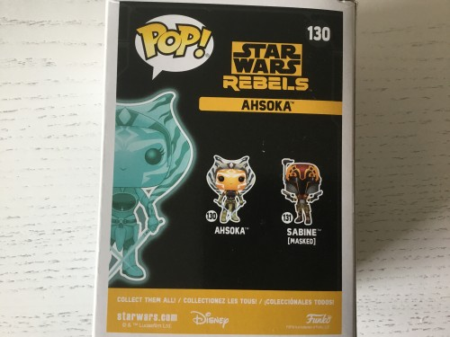 Funko Ahsoka Glows In The Dark Brilha No Escuro Exclusive Com Protetor Stan Lees Comic Con - Star Wars Rebels - #130