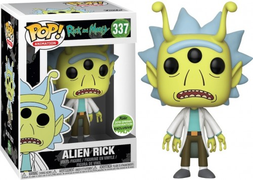 Funko Pop Alien Rick Exclusive 2018 Spring-Rick and Morty-337