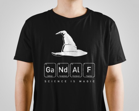 Almofada Camiseta Gandalf Science Is Magic-Lord Of The Rings-