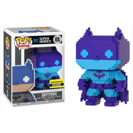 Funko Pop Batman 8-bit (purple & Blue)-Dc Heroes-1