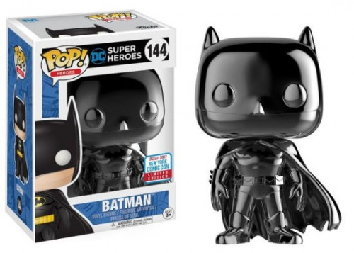 Funko Pop Batman Black Chrome - Nycc 2017-DC Super Heroes-144