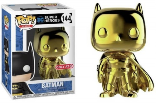 Funko Batman Gold Chrome Target + Camiseta G-DC-144