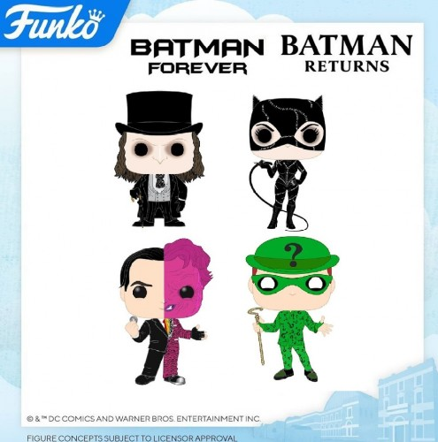 Funko Set Batman Forever/batman Returns 4 Pops-Funko-1
