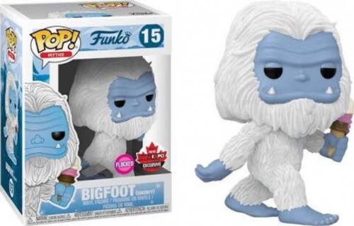 Bigfoot Snowy Flocked Funko Myths Com Protetor Exclusive Limitado. Raro-Myths-15
