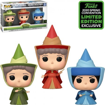 Funko Pop Disney Sleeping Beauty Exclusive Eccc 2020 - Fauna, Flora And Merryweather (3 Pack)-A Bela Adormecida-1
