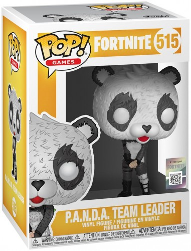 Boneco Funko Pop Panda Team Leader - Fortnite-Fortnite-515