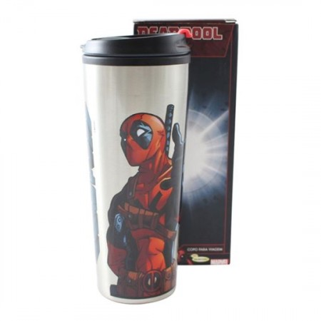 Copo TÉrmico Metal - Deadpool 450 Ml-Deadpool-