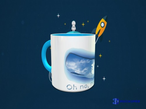 Caneca Oh No, Not Again!-Guia do Mochileiro das Galaxias-
