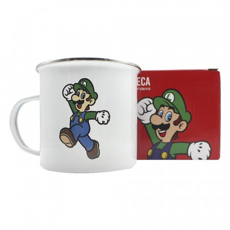 Caneca Metal Luigi - 500ml - Mario Bros-Super Mario-