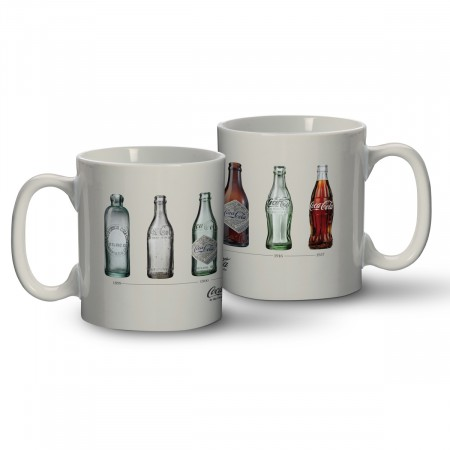 Caneca Porcelana Coca-cola Bottles Evolution - 320 Ml-Coca-Cola-