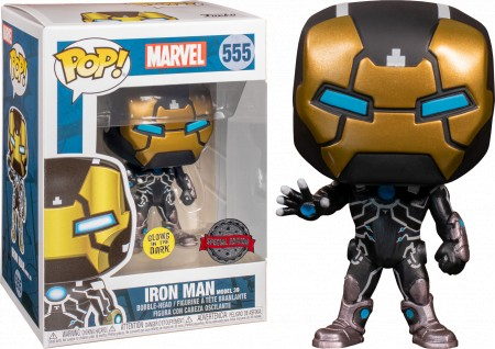 Funko Pop Iron Man Glows In The Dark-marvel-555