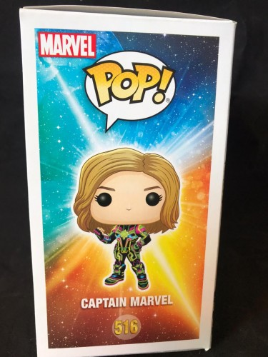 Funko Pop! Marvel Avengers: Capitã Marvel ( Neon ) - Captain Marvel . - #516