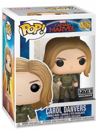 Carol Danvers - Captain Marvel - Funko Pop! Exclusivo Fye-Captain Marvel-436