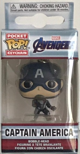 Chaveiro Captain America - Avengers Marvel - Pocket Pop! Funko Keychain-Marvel Avengers-