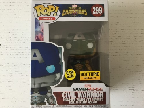 Funko Civil Warrior Marvel Glows In The Dark. Brilha No Escuro. Com Protetor-Contest of Champions-299