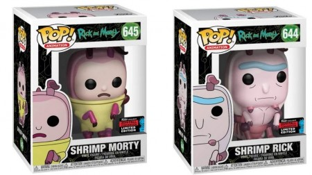Funko Pop Combo Shrimp Rick #644 + Shrimp Morty#645 Exclusive Fall Convention * Nycc*-Rick And Morty-645