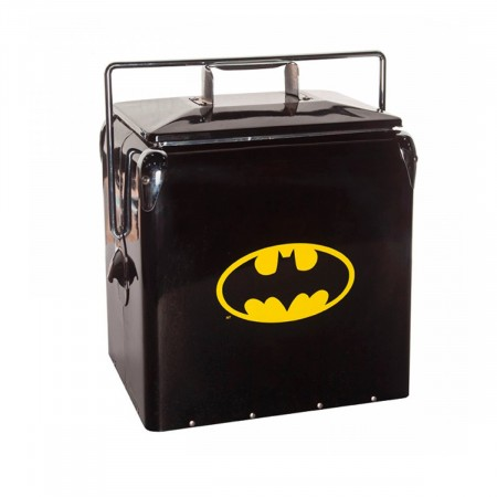 Kit E Balde De Pipoca Cooler De Metal Batman Logo-Batman Classic-