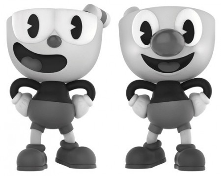 Funko Pop Cuphead And Mugman (black & White) [fall Convention]-Cuphead-2