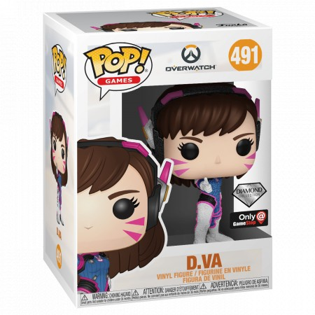 D.va Diamond - Overwatch - Funko Pop! Exclusivo Gamestop - #491-Overwatch-491
