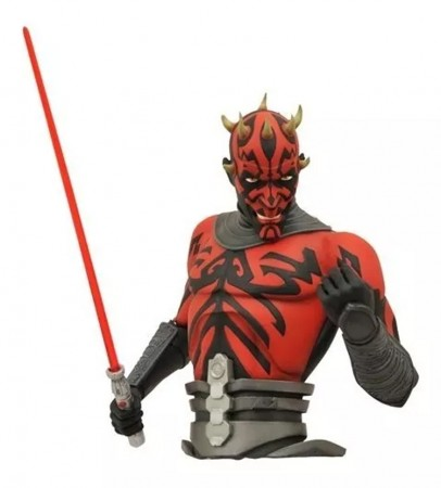 Action Figures Darth Maul Bank Bust - Cofrinho De Moedas-Stars Wars-