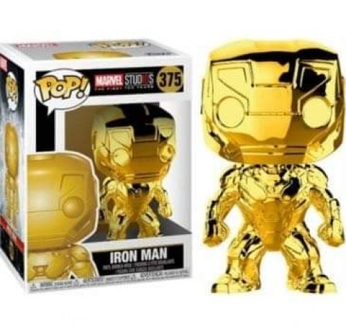 Funko Pop Marvel Studios The First Ten Years Iron Man Gold Chrome-Marvel Studios-375
