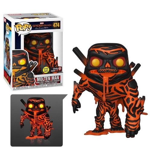 Funko Pop Molten Man Exclusivo!-Spider-man Homecoming-474