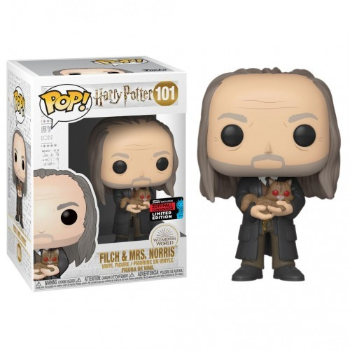 Funko Pop Filch & Mrs. Norris-Harry Potter-101