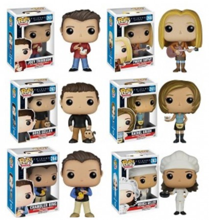 Funko Pop Friends - Primeira Wave - Vaulted - Set Com Seis Pops:#261,#262,#263,#264,,#265,#266-Friends-261