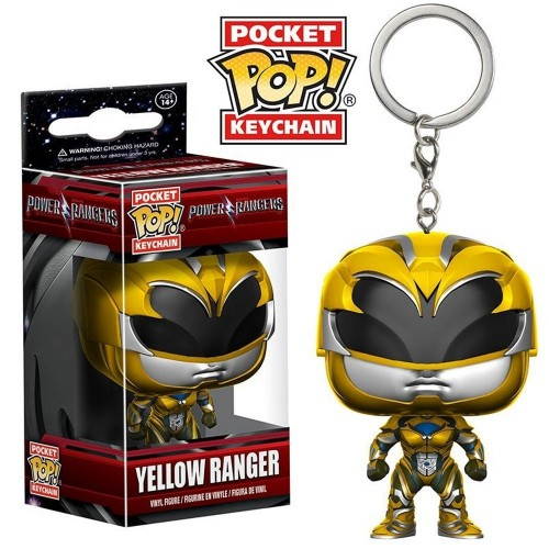 Chaveiro Power Ranger: Ranger Yellow-Power Rangers-