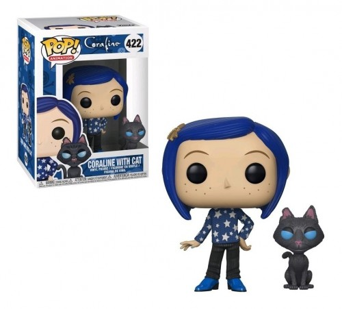 Funko Coraline: Coraline With Cat Buddy-Coraline-422