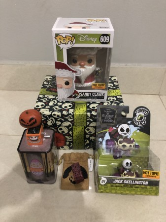 Funko Disney Treasures The Nightmare Before Christmas Box - Exclusiva Hottopic - Caixa Aberta Para Conferência (favor Olhar As Fotos)-The Nightmare Before Christmas-609