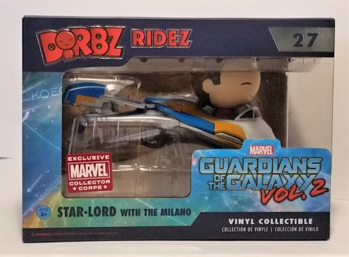 Funko Dorbz Ridez Marvel Guardians Of The Galaxy Star Lord With The Milano Exclusive Collector Corps-Guardiões da Galáxia Vol 2-27