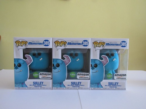 Funko Pop Sulley - Flocked ( Amazon Exclusive) - Monstros S.A - #385