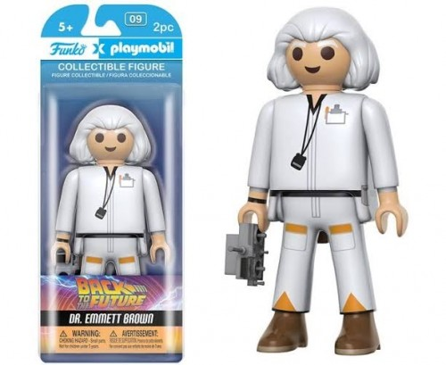 Funko Playmobil Back To The Future Dr. Emmett Brown Tamanho Gg-Playmobil-9