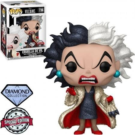 Funko Pop - Cruella De Vil Diamond-Disney Villains-736