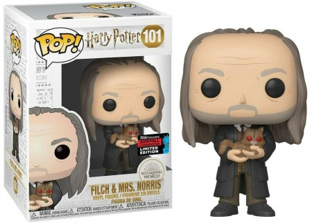 Funko Pop - Filch & Mrs Norris - Harry Potter Exclusivo Nycc 2019-Harry Potter-101