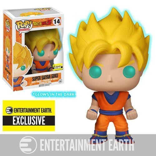 Funko Pop - Super Sayan Goku ( Glow In The Dark) Entertainment Earth Exclusive - #14 - Dragon Ball - #1