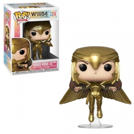 Funko Pop - Wonder Woman Golden Armor Flying-Wonder Woman 84-324