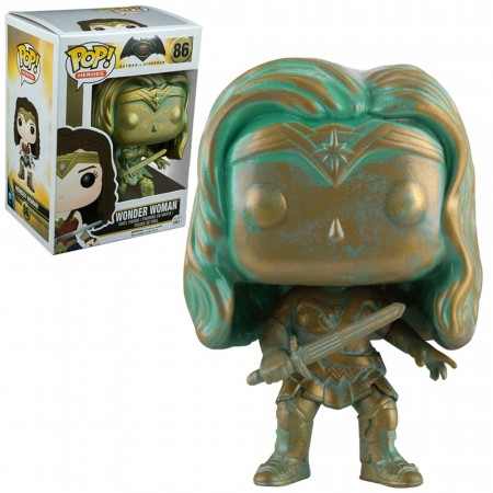Funko Pop! Batman V Superman Exclusive - Wonder Woman (patina)-Dc Heroes-86