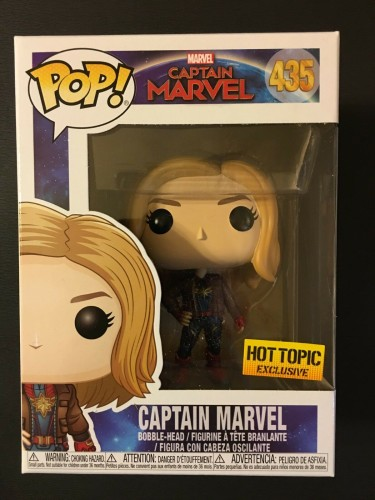 Funko Pop! Captain Marvel #435 Hot Topic Exclusive-captain marvel-1