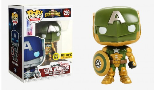 Funko Pop! Contest Of Champions Civil War Brilha No Escuro-Contest of Champions-299