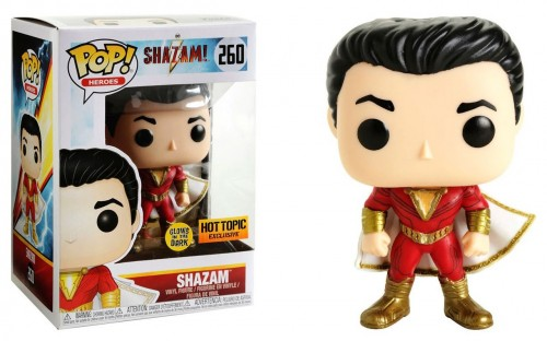Funko Pop! Dc Shazam #260 Glows In The Dark Hot Topic Exc-Shazam-1